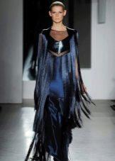 Платье в стиле чикаго  с бахромой в пол