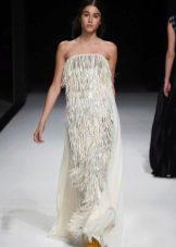 Платье в стиле чикаго  с бахрамой ооткрытое