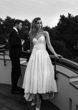 Платье А-силуэта короткое свадебное