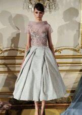 платье в стиле стиляг с воротником