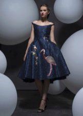 Платье в стиле стиляг с принтом