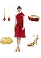 Платье для фигуры Прямоугольник и аксессуары