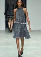 Платье миди с американской проймой