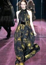 Длинное платье с американской проймой