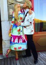 Платье с рисунком, с Николаем Басковым