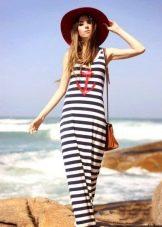 Морское платье в полоску