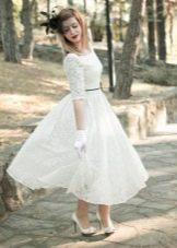 Гипюровое свадебное платье в стиле 50-х