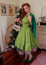 Платье в стиле 50-х в сочетание с кардиганом