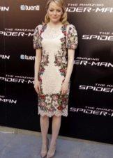 Платье с принтом в стиле барроко короткое