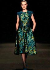 Платье с принтом в стиле барроко миди