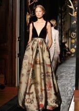 Платье с принтом в стиле барроко в пол