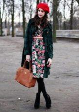 Пальто к платью в стиле нью лук