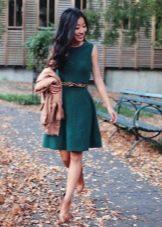 Демисезонное повседневное платье
