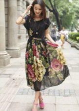 Шифоновое повседневное платье