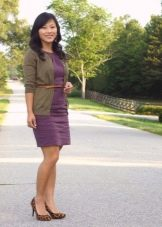 Повседневное платье сиреневого цвета
