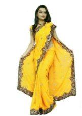 Сари платье желтое
