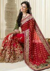 Красное свадебное сари