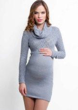 Трикотажное вязаное платье для беременных