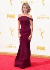 весеннее платье цвета бордо