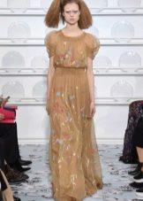 Весенне платье в пол из шифона