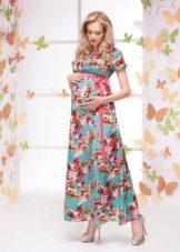 Цветное весеннее платье для беременных