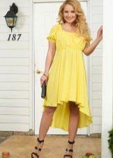 Платье для беременных весеннее желтое