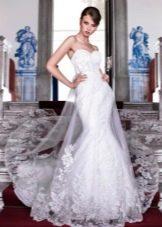 Кружевное платье русалка свадебное