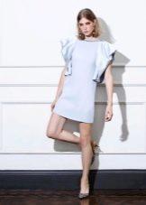 Весеннее мини платье с рукавом
