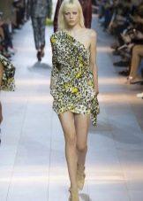 Весеннее платье асимметричное короткое