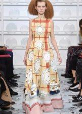 Платье с принтом в пол весеннее