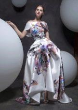 Весеннее платье в пол с фантазийной юбкой