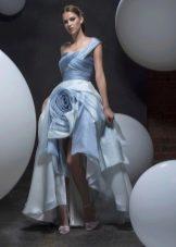 Весеннее платье в пол с фантазийной юбкой короткое