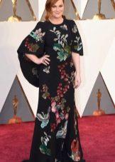 Цветочное платье с красной дорожки Оскар