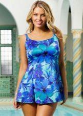 Купальное платье с цветочным принтом