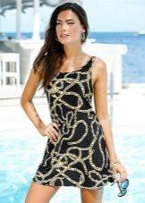 Купальное платье А-силуэта