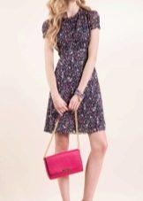 Шифоновое цветное платье