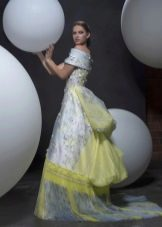 Платье на выпускной с принтом