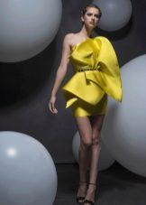 Платье на выпускной желтое