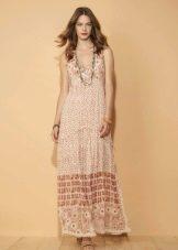 Платье в стиле бохо в пол