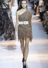 Летнее платье с асимметрией