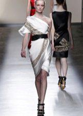 Греческое короткое платье летное