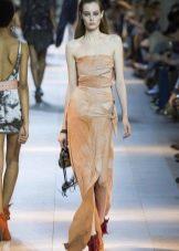 Платье-футляр летнее в пол