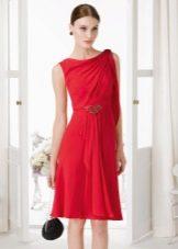Летнее платье в стиле шанель многослойное
