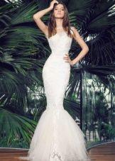 Свадебное летнее платье русалка