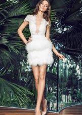 Свадебное летнее платье короткое