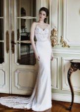 Свадебное платье летнее на бретелях