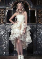 Свадебное летнее платье пышное короткое