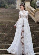 Свадебное летнее платье кружевное