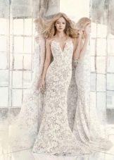 Свадебное платье летнее кружевное