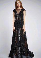 Летнее сексуальное полупрозрачное кружевное платье